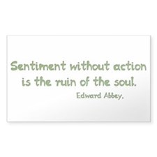 Sentiment Without Action Decal