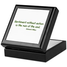 Sentiment Without Action Keepsake Box