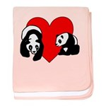 Panda Bear Love baby blanket