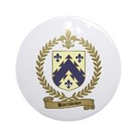 BARRILLEAUX Family Crest Ornament (Round)