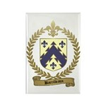 BARRILLEAUX Family Crest Rectangle Magnet (100 pac