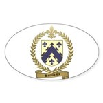 BARRILLEAUX Family Crest Oval Sticker