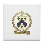 BARRILLEAUX Family Crest Tile Coaster