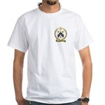 BARRILLEAUX Family Crest White T-Shirt