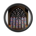 West Stained Glass Window Large Wall Clock