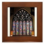 West Stained Glass Window Framed Tile
