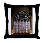 West Stained Glass Window Throw Pillow
