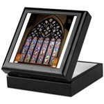 West Stained Glass Window Keepsake Box