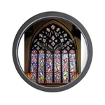 West Stained Glass Window Wall Clock