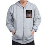 West Stained Glass Window Zip Hoodie