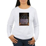 West Stained Glass Window Women's Long Sleeve T-Sh
