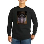 West Stained Glass Window Long Sleeve Dark T-Shirt