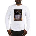 West Stained Glass Window Long Sleeve T-Shirt