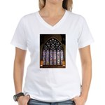 West Stained Glass Window Women's V-Neck T-Shirt