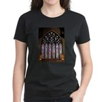 West Stained Glass Window Women's Dark T-Shirt