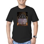 West Stained Glass Window Men's Fitted T-Shirt (da