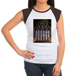 West Stained Glass Window Women's Cap Sleeve T-Shi