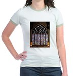West Stained Glass Window Jr. Ringer T-Shirt