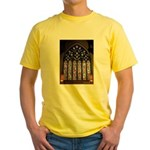 West Stained Glass Window Yellow T-Shirt