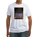 West Stained Glass Window Fitted T-Shirt