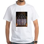 West Stained Glass Window White T-Shirt