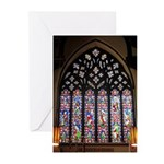 West Stained Glass Window Greeting Cards (Pk of 20