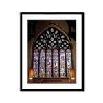 West Stained Glass Window Framed Panel Print
