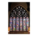 West Stained Glass Window Postcards (Package of 8)
