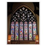 West Stained Glass Window Small Poster