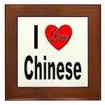 I Love Chinese Framed Tile