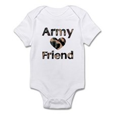 Army Friend Heart Camo Infant Creeper