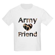 Army Friend Heart Camo Kids T-Shirt