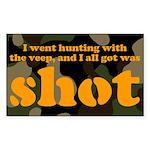All I got was shot Rectangle Sticker
