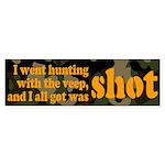 All I got was shot Bumper Sticker