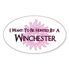 I Want To Be Hunted By A Winc Decal