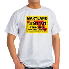 Maryland Terrorist Hunting Li T-Shirt