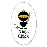 Ninja Chick Sticker (Oval 50 pk)