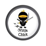 Ninja Chick Wall Clock