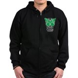 Kidney Cancer Butterfly Zipped Hoodie