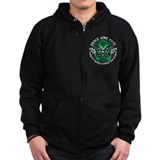 Kidney Cancer Tribal Butterfl Zipped Hoodie