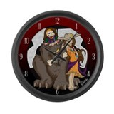 Ratatat graphics Large Wall Clock