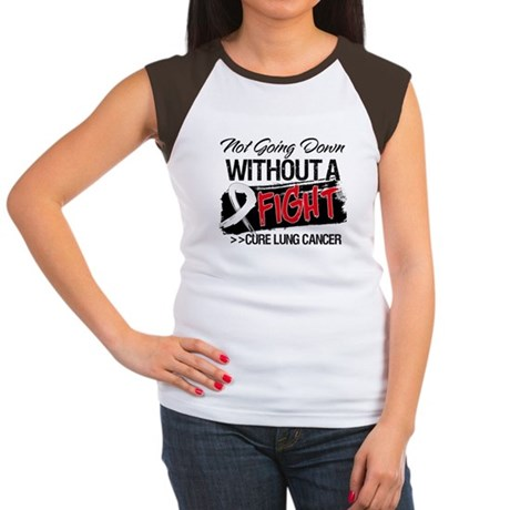 Not Going Down Lung Cancer Women's Cap Sleeve T-Sh