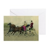 """Carriage Ride"" Borzoi Cards (10 PK)"