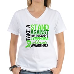 Take a Stand Non-Hodgkins Women's V-Neck T-Shirt