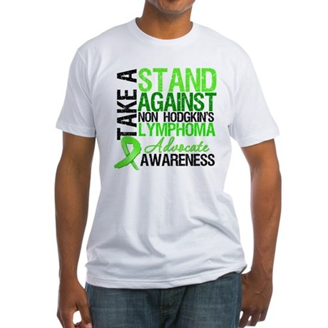 Take a Stand Non-Hodgkins Fitted T-Shirt