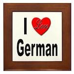 I Love German Framed Tile