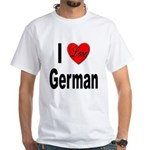 I Love German White T-Shirt