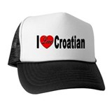 I Love Croatian Hat