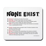 None Exist(tm) Mousepad with explanation.