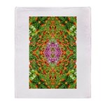 Flower Garden Carpet 4 Throw Blanket
